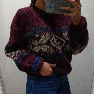 Vintage American Eagle Wool Pattern Sweater